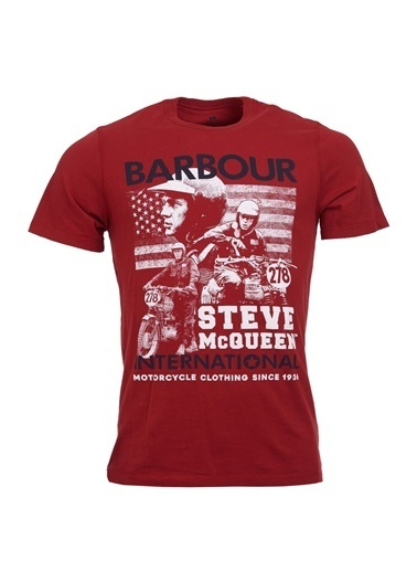 Barbour Tişört Kırmızı